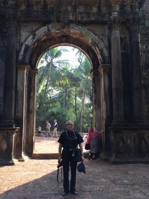 聖パウロ学院正門---ザビエル様当時の門。ヤジロウも通った。