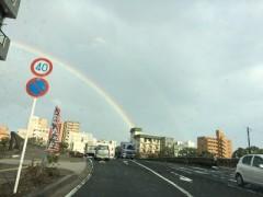 天空橋 - 見事な大虹はまさに天空橋。