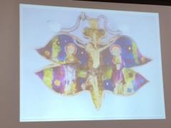蝶々のイエス。蝶々は復活の象徴。総長さんのDVDより。