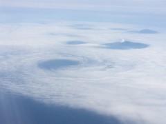 初めて肉眼で見た雲の渦。