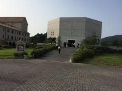会場となって純心女子大学聖堂外観