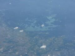 上空からの珊瑚タンダム。ウキペディア「烏山頭」の項から拝借しました。