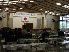 若い宮司さんが就任された護国神社ホール。