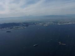 水平線に浮かぶような富士を初めて見た。