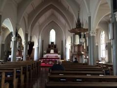 横浜山手教会。1933年再建現在に至る。
