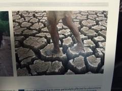 フィリピン・ルソン島中部の干ばつ。