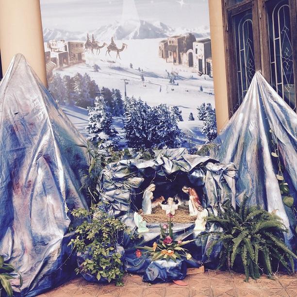 ラバンの仮聖堂の馬小屋。