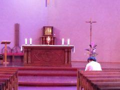 今日は聖体礼拝の日
