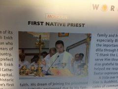 モンゴル初の地元出身司祭