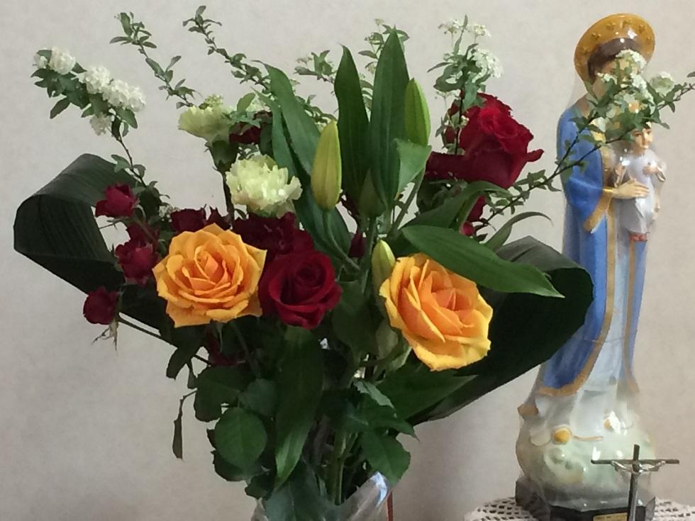 司教叙階11周年記念の花束