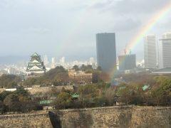 列福式当日の朝、虹が。虹の真下が会場。
