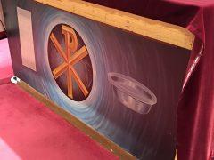 ビアンネ助祭の小教区の祭壇裏