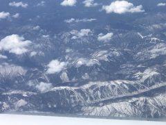 上空からの東北は雪の日々が続く