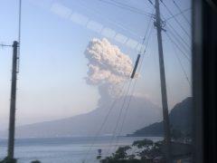 久しぶりに見た桜島の噴火