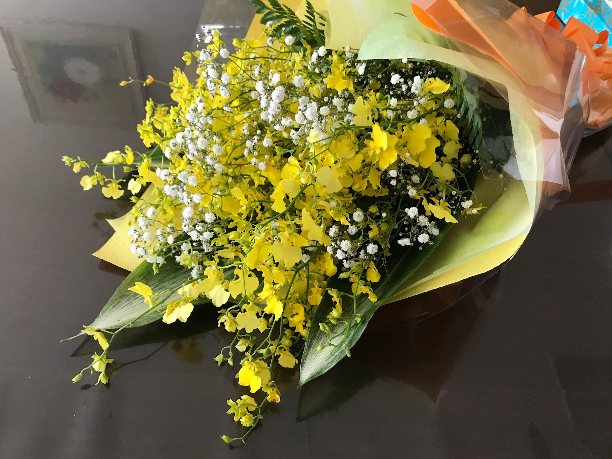 堅信式の後でもらった花束