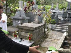 95回目のブイジュ神父様命日祭。瀬留共同墓地。