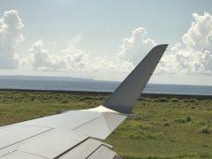 喜界島上空の入道雲