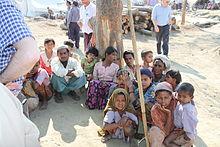 難民ロヒンギャの子供たち