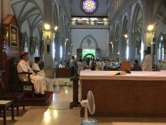 ハイメン教区カテドラル。ヨセフ司教様。