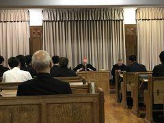 福音宣教省長官神学生に講話