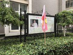 ハイメイ教区カテドラル中庭の教皇