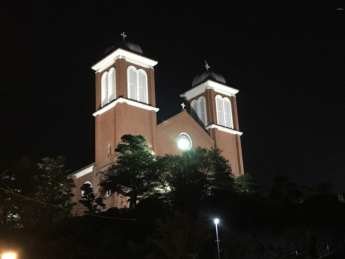 浦上教会の夜景