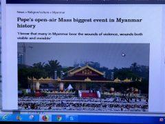 ヤンゴンでの初めてのミサ