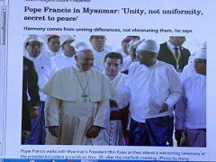 ミャンマー大統領のお出迎え
