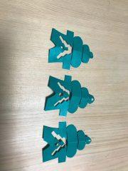一枚の千代紙から3個の飾り餅が