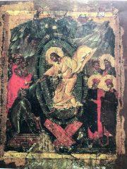 今日の聖書と典礼表紙。アダムとエワを引き上げるイエス