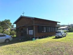 度重なる台風にもめげない手作り教会