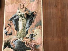 鴨池教会正面横の被昇天の聖母