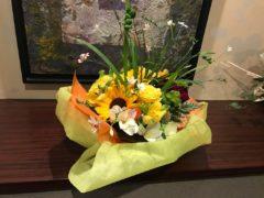 在宅信徒から送られた花かご