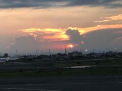 羽田の残念な夕日