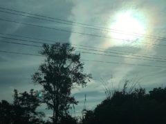 ベトナムからラオスへの車窓から見たオーロラ?