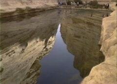 岩から水が出た話の舞台といわれているオアシス出エジプト17章