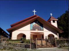 バクン聖心教会。当時の場所から移転新築。